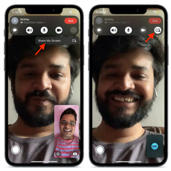 Use Screen Share in FaceTime