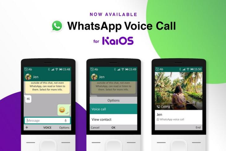 WhatsApp voice call on KaiOS feat.