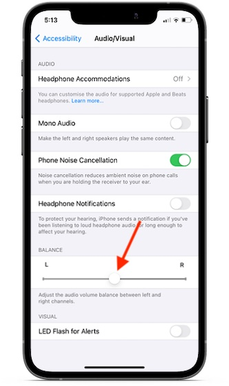 audio volume balance - left or right airpods not working