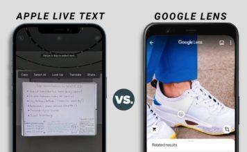 apple live text vs google lens