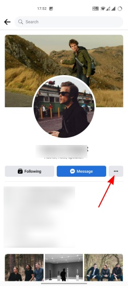 block someone on facebook app 1
