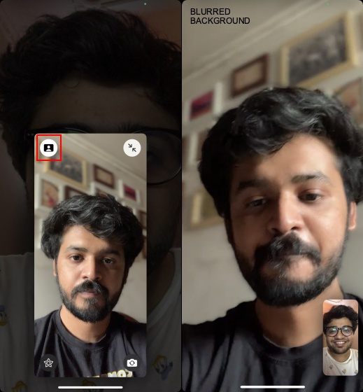 blur background in facetime video calls 3
