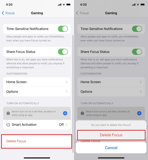 delete focus mode in ios 15 -What is Focus Mode and How to Use It in iOS 15