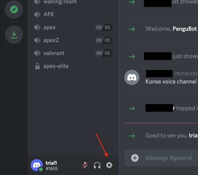 discord - disable account - open settings