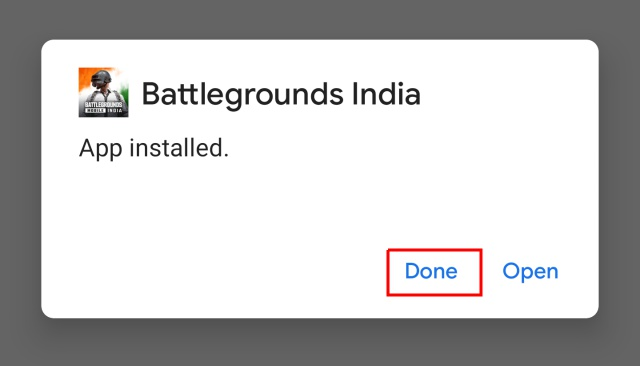 dont open battleground mobile india after install