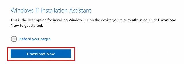 download windows 11 upgrade installation assistant