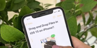 how to drag and drop files between apps in iOS 15