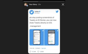 how to share tweets in Instagram story on ios and Android