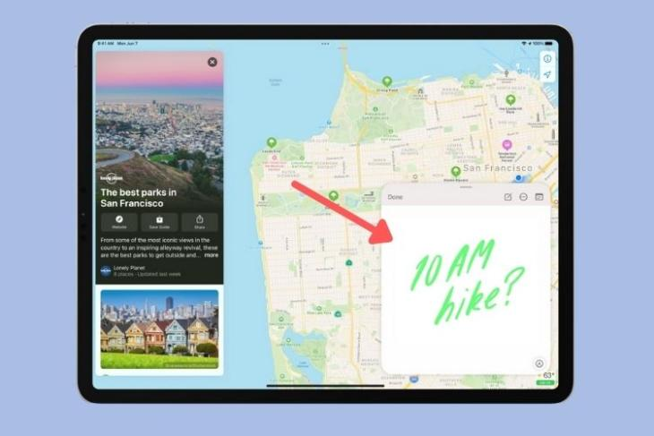 how to use Quick Note in iPadOS 15