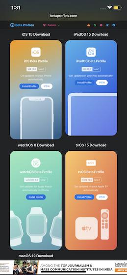 iOS 15 beta pro