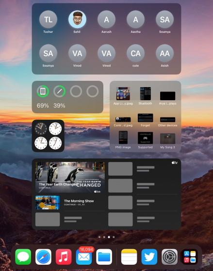 iPad Widgets