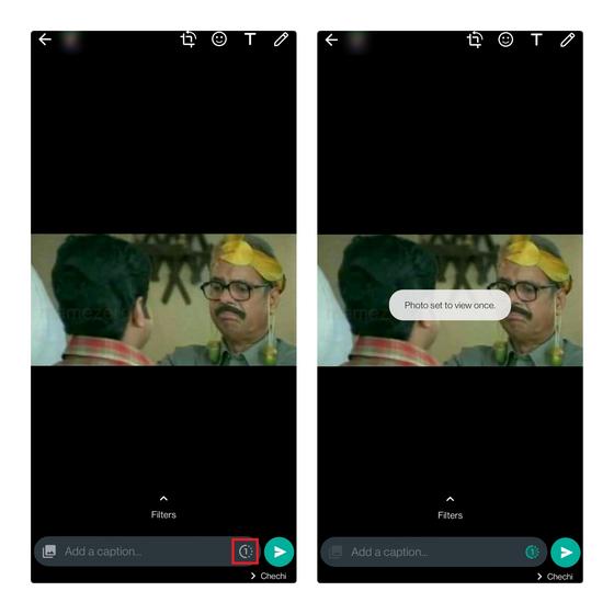 Fotos zum einmaligen Anzeigen von WhatsApp - verschwindendes Foto-Whatsapp