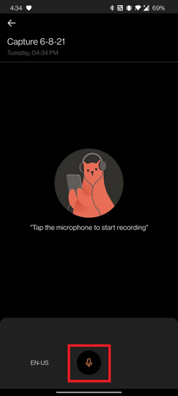 record voice note