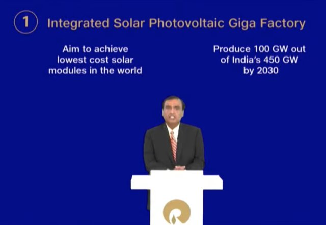 reliance solar giga factory