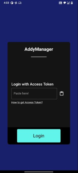 AddyManager (Unofficial Client of AnonAddy)