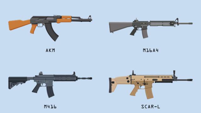 battlegrounds mobile india guns damage list