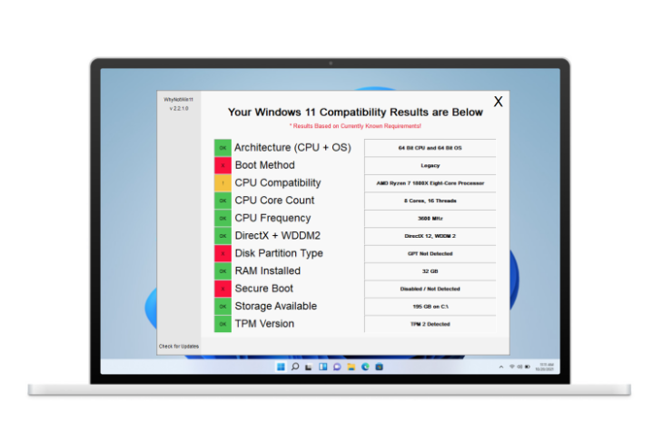 this free app tells exactly why your pc can't run windows 11
