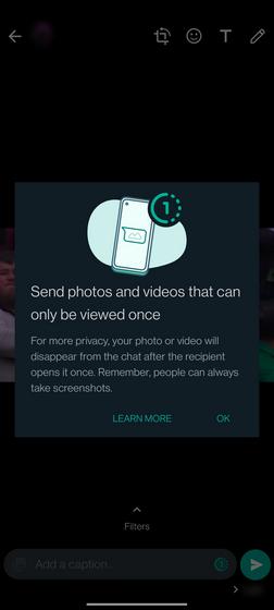 WhatsApp-Screenshot-Warnung