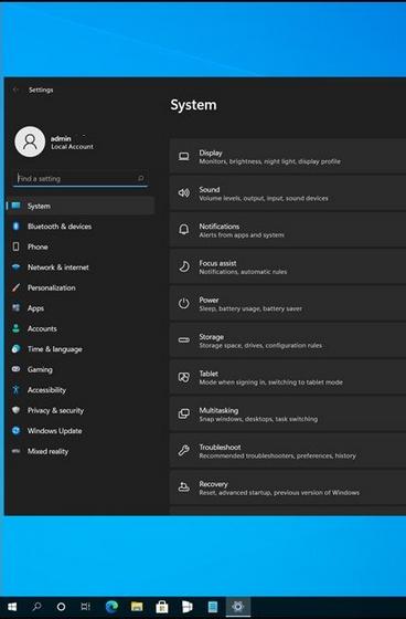 windows 11 settings app