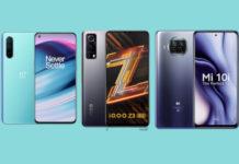 OnePlus Nord CE vs iQOO Z3 vs Mi 10i - Best Budget 5G Phone in India?
