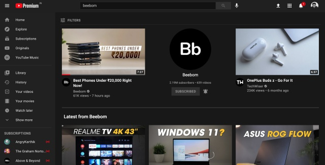 youtube grid search 2