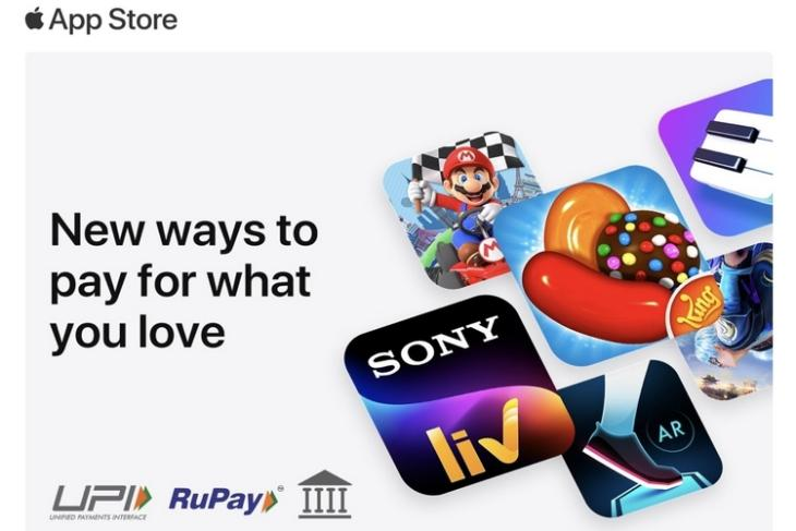 Apple Now Lets You Pay Using UPI, Rupay, and Net Banking on App Store and iTunes