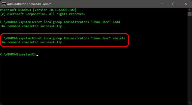 Change Account Type From Standard to Administrator Using Command Prompt in Windows 11