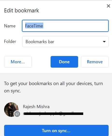 تخصيص إشارة FaceTime المرجعية