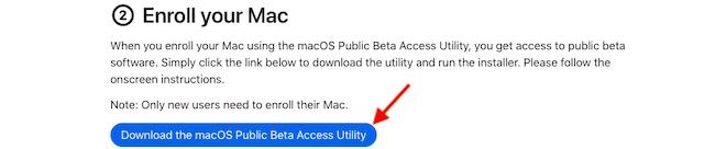 Laden Sie das macOS Public Beta Access Utility herunter