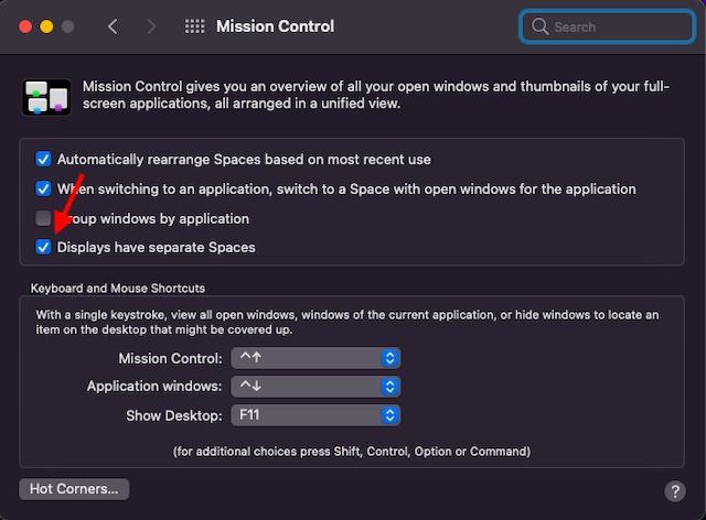 Enable Split View on Mac