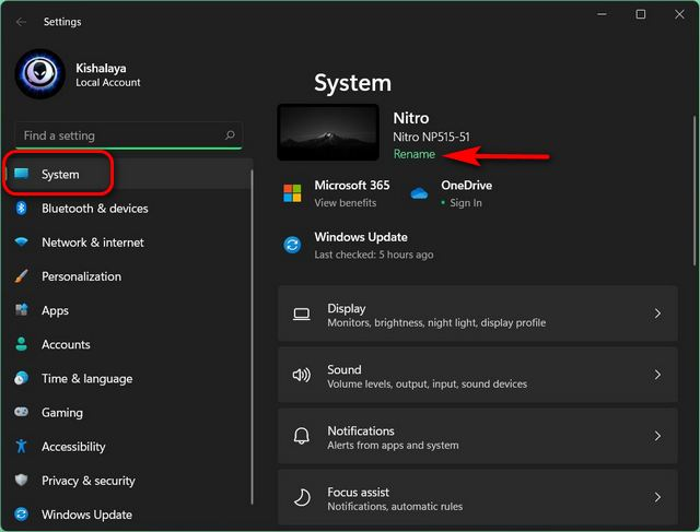 How to Change Your Computer Name in Windows 11 / rename pc