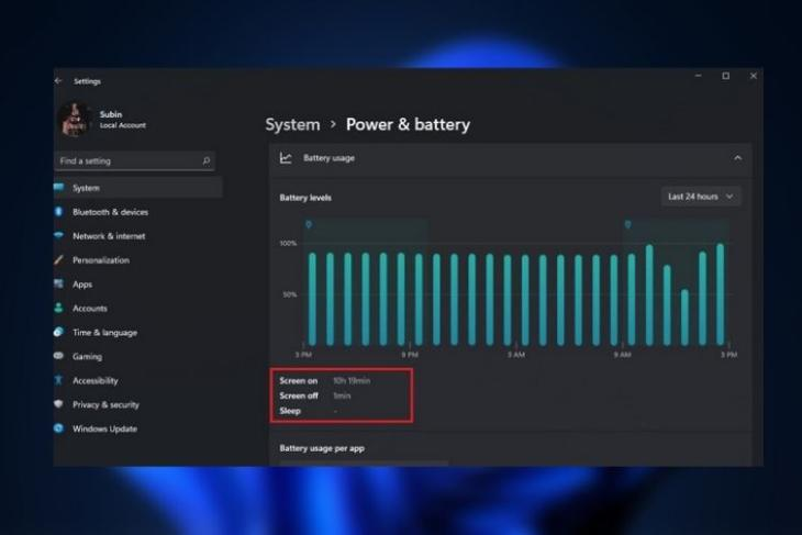 How to Check Screen on Time in Windows 11 right now