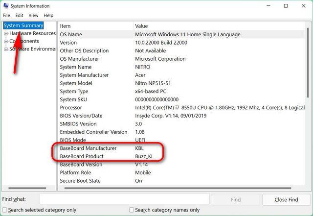 Überprüfen Sie die Motherboard-Marke und das Modell auf Ihrem PC