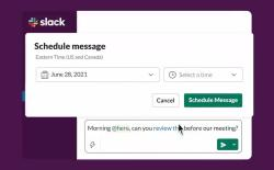 How to Schedule Messages on Slack in 2021