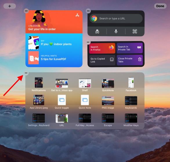 Remove ipad widgets minus sign - ipados 15 widgets on iPad
