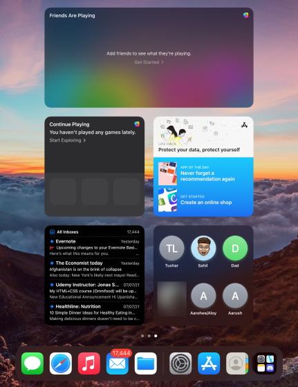 ipad widgets - ipados 15 widgets on iPad