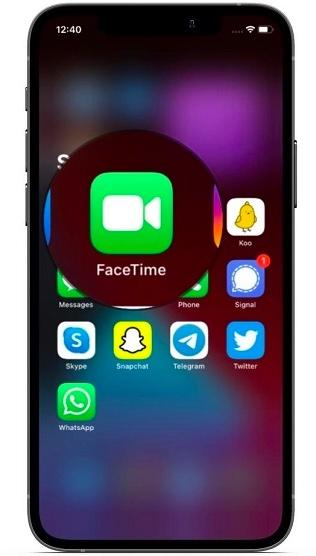 افتح FaceTime= فيس تايم على أندرويد