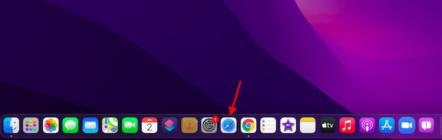 Open Safari on macOS 12