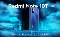 Redmi Note 10T 5G with Dimensity 700 Launching in India on July 20