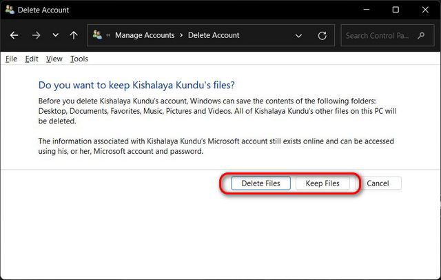 How to Remove or Delete Microsoft Account from Windows 11 PC