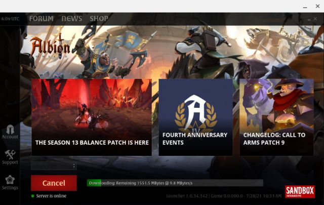Install Albion Online linux version chrome os