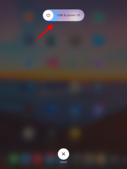iphone overheating power slider