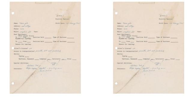 Steve Job's Hand-Written Job Application Is Being Sold As NFT
