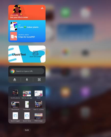 widgets on today view - ipados 15 widgets on iPad