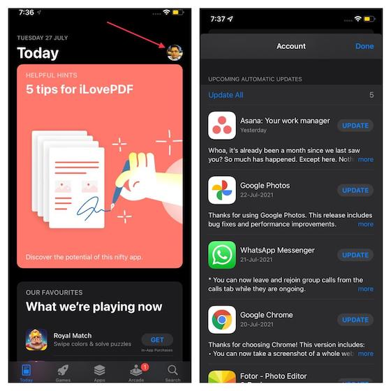 Update Apps on iPhone and iPad