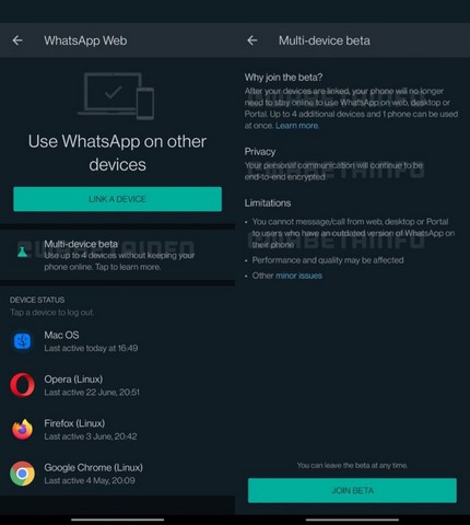WhatsApp Rolls Out Multi-Device Support for Beta Testers
