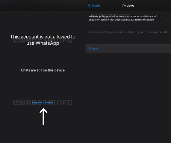 """WhatsApp Will Let Banned Users """"Request a Review"""" to Unban Their Accounts Within the App"""