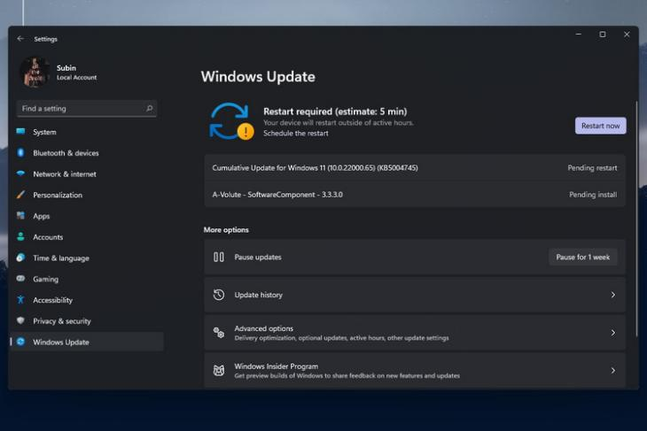 Windows 11 Insider Preview Build 22000.65