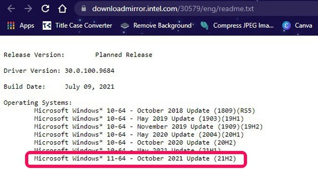 Intel Documents Hint at the Possible Release Date of Windows 11