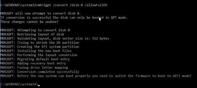 Konvertieren Sie MBR in GPT ohne Datenverlust unter Windows 10